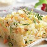 Arroz con calabacín y zanahoria